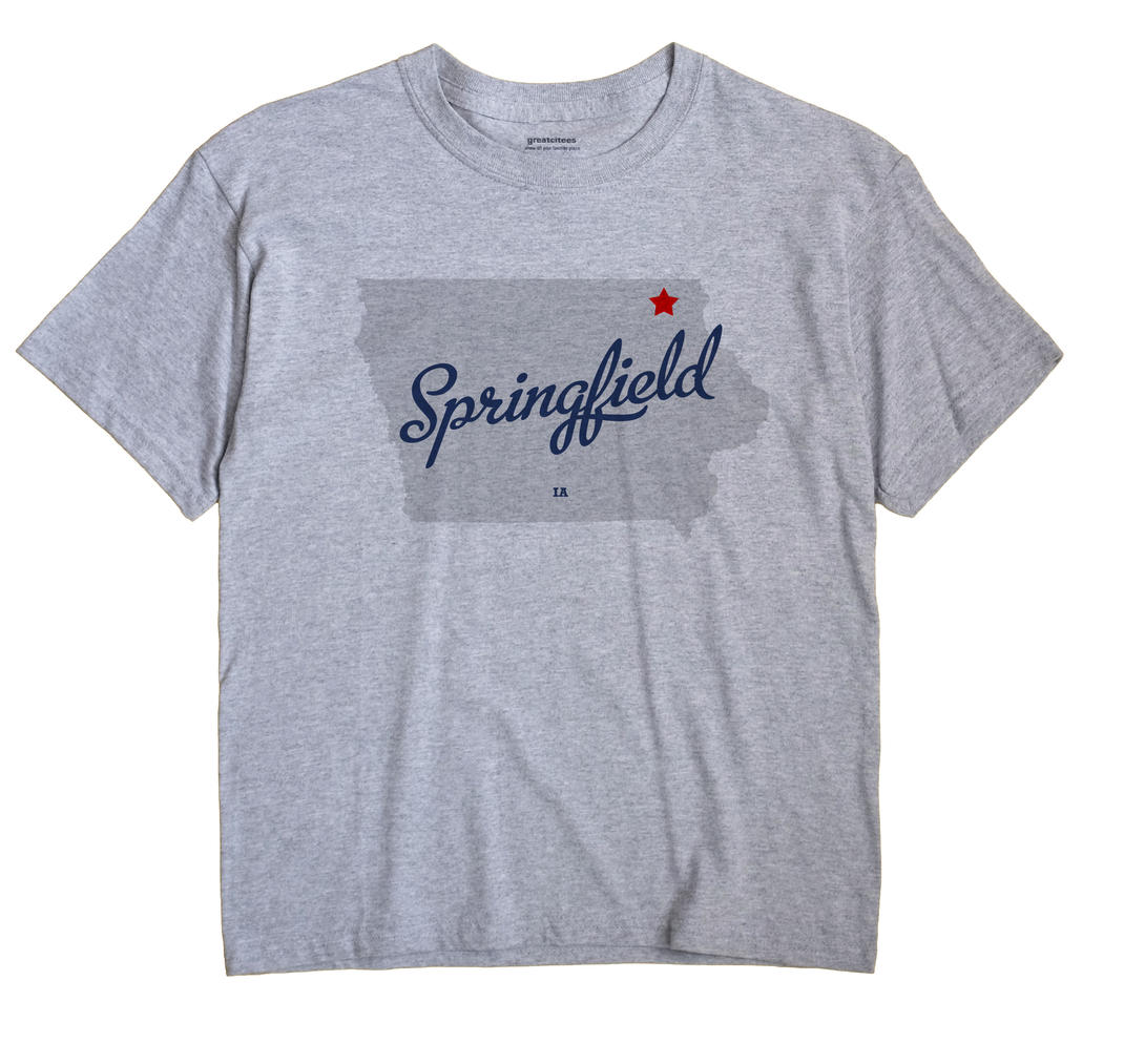 Springfield, Winneshiek County, Iowa IA Souvenir Shirt