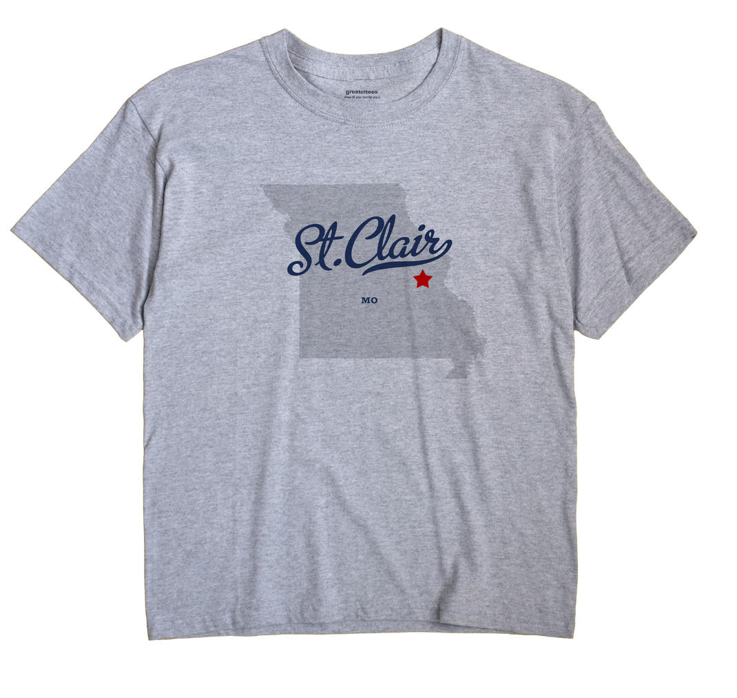 St. Clair Missouri MO T Shirt METRO WHITE Hometown Souvenir