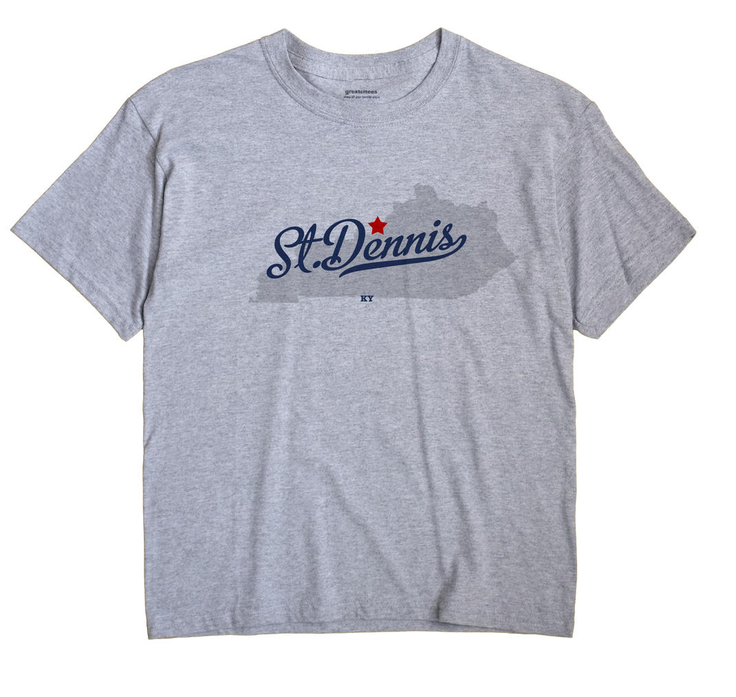 St. Dennis Kentucky KY T Shirt METRO WHITE Hometown Souvenir