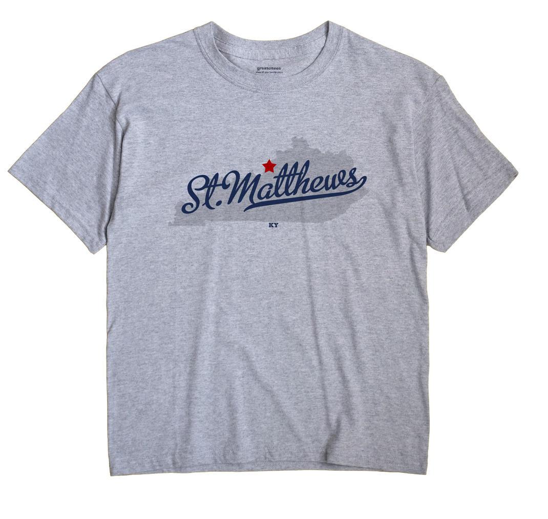 St. Matthews Kentucky KY T Shirt METRO WHITE Hometown Souvenir