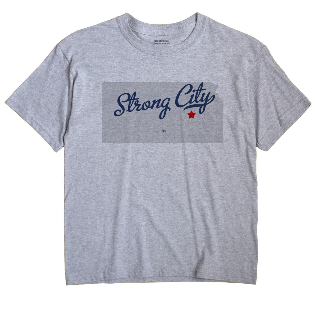 Strong City, Kansas KS Souvenir Shirt