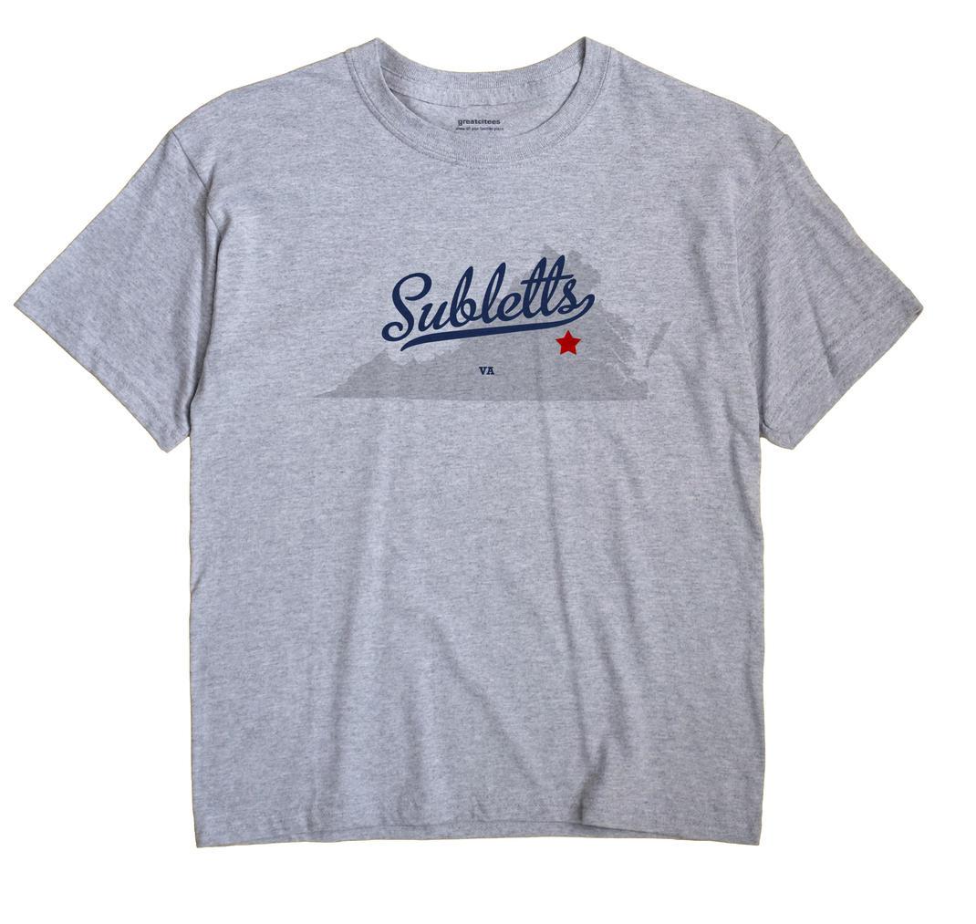 Subletts, Virginia VA Souvenir Shirt