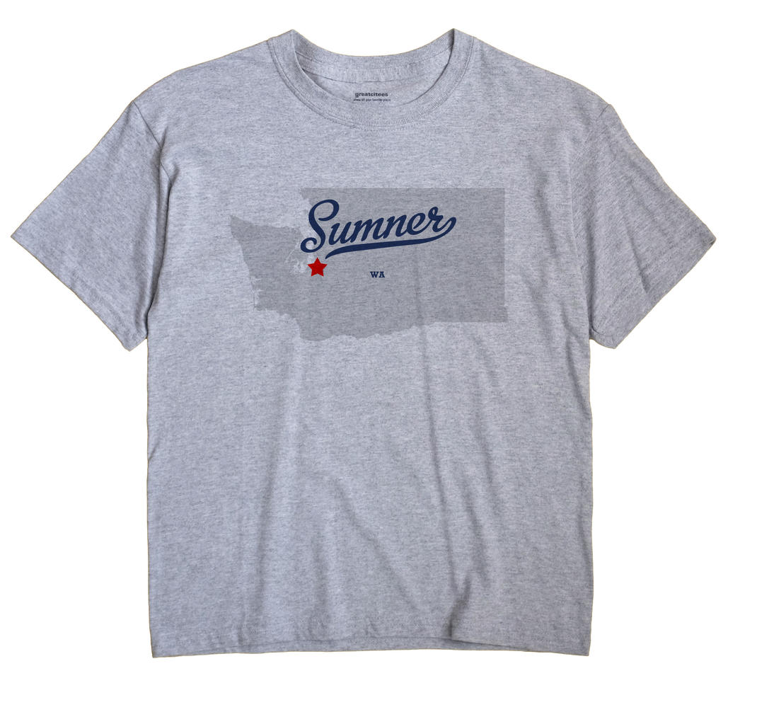 Sumner Washington WA T Shirt METRO WHITE Hometown Souvenir
