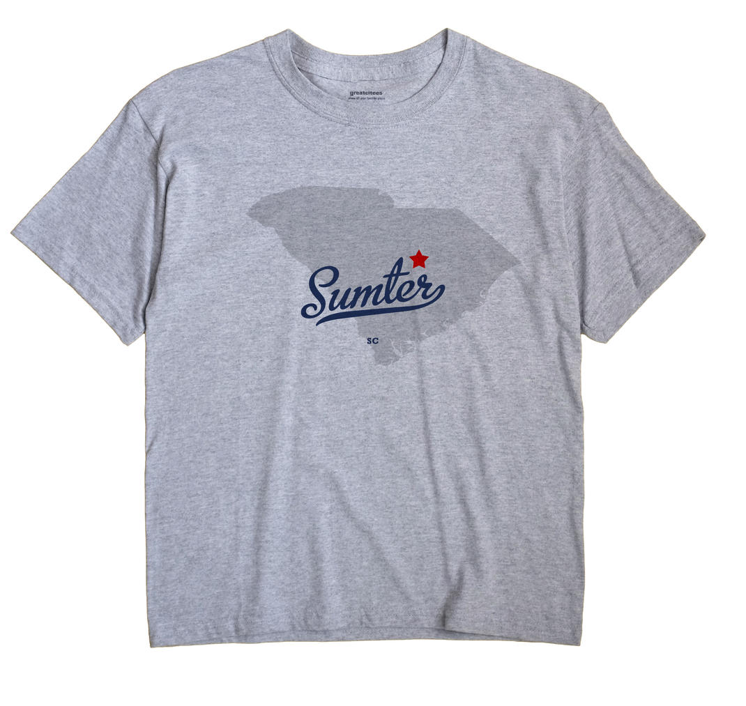 Sumter South Carolina SC T Shirt METRO WHITE Hometown Souvenir