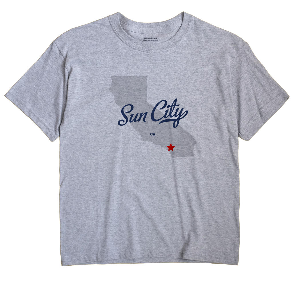 Sun City California CA T Shirt METRO WHITE Hometown Souvenir