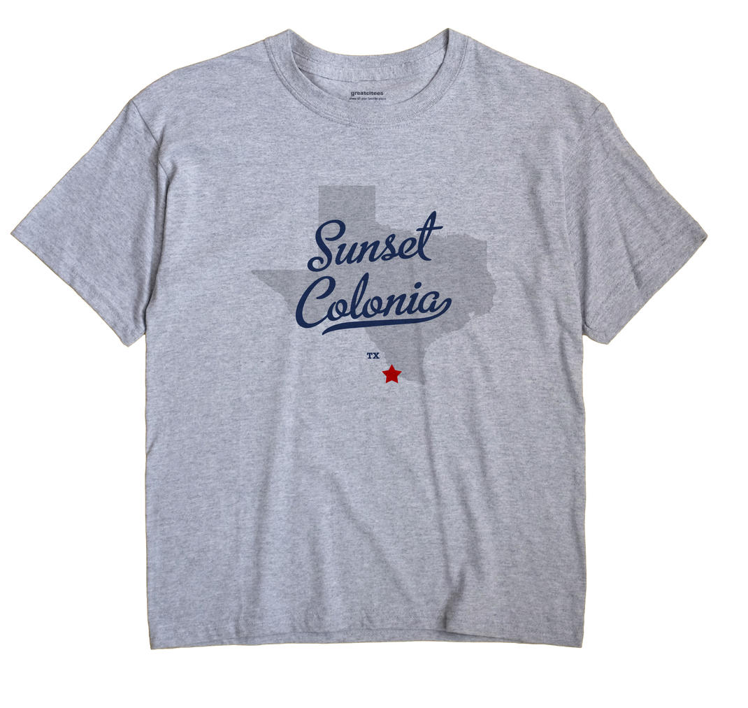 Sunset Colonia, Texas TX Souvenir Shirt