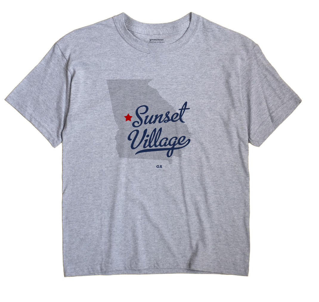 Sunset Village, Georgia GA Souvenir Shirt