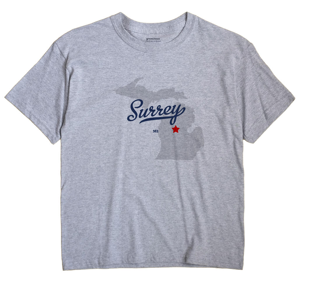 Surrey, Michigan MI Souvenir Shirt