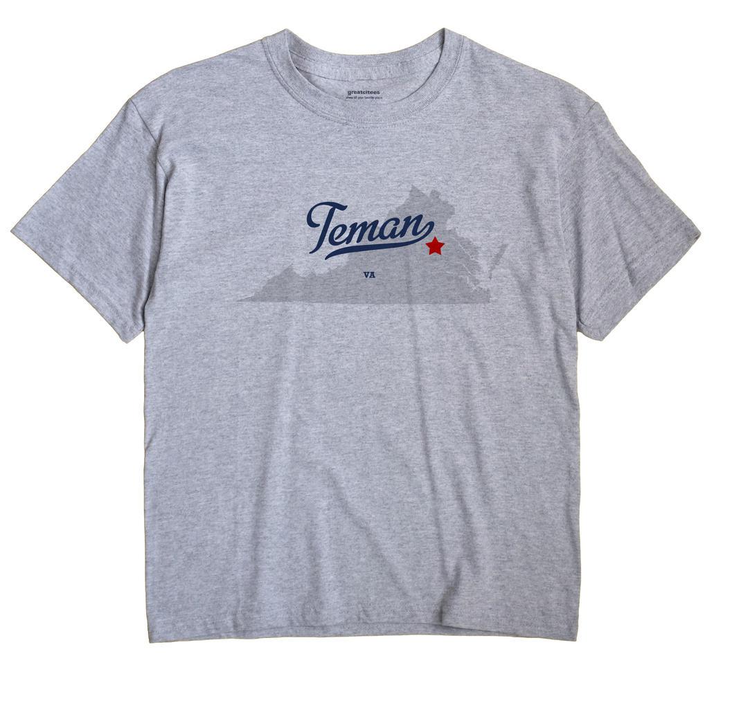 Teman, Virginia VA Souvenir Shirt