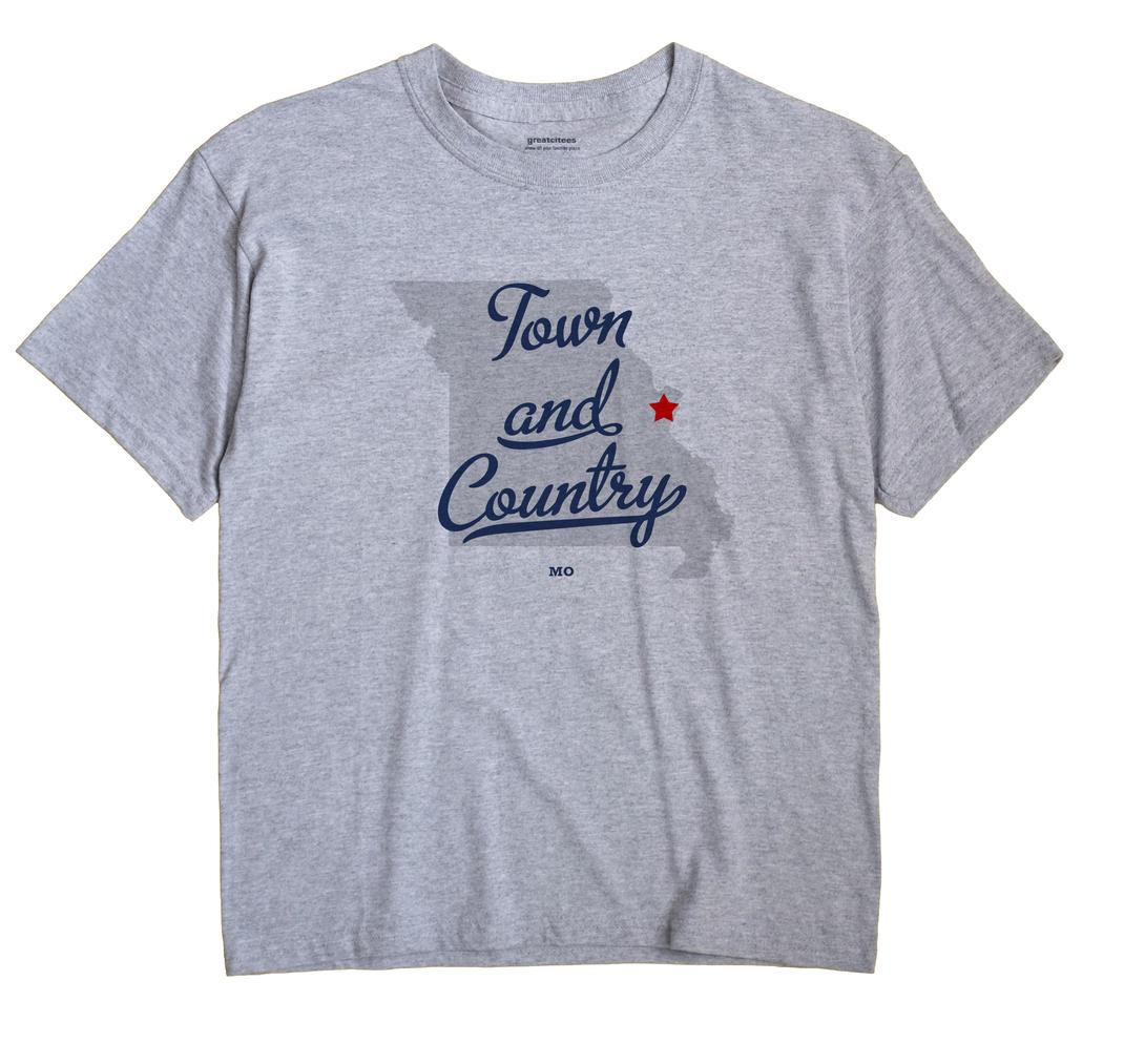 Town and Country, Missouri MO Souvenir Shirt