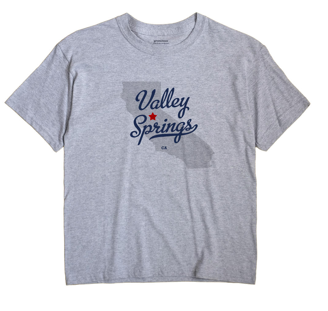 Valley Springs, California CA Souvenir Shirt