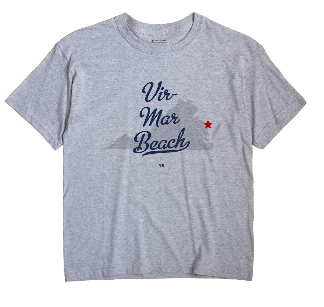 Vir-Mar Beach, Virginia VA Souvenir Shirt