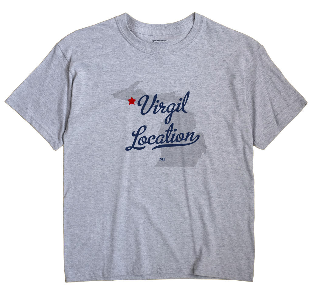 Virgil Location, Michigan MI Souvenir Shirt