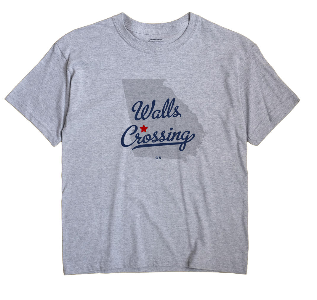 Walls Crossing, Georgia GA Souvenir Shirt
