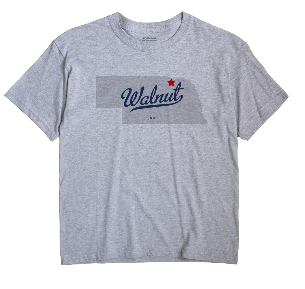 Walnut, Nebraska NE Souvenir Shirt