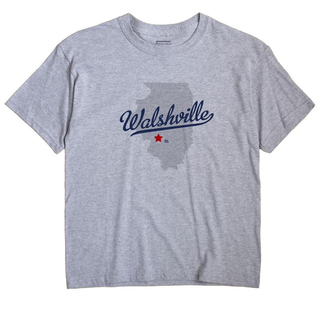 Walshville, Illinois IL Souvenir Shirt