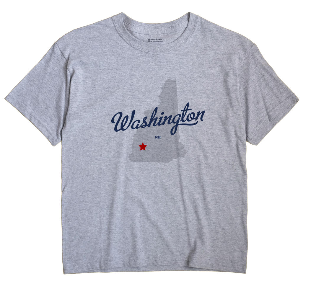 Washington New Hampshire NH T Shirt METRO WHITE Hometown Souvenir