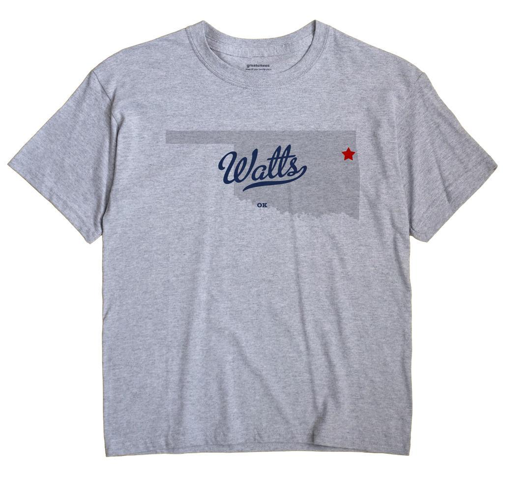 Watts, Oklahoma OK Souvenir Shirt