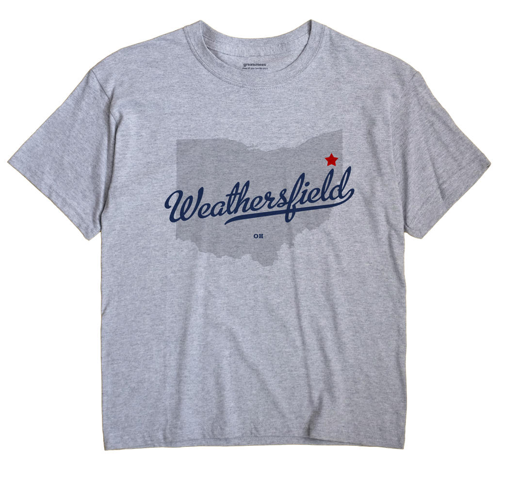 Weathersfield Ohio OH T Shirt METRO WHITE Hometown Souvenir