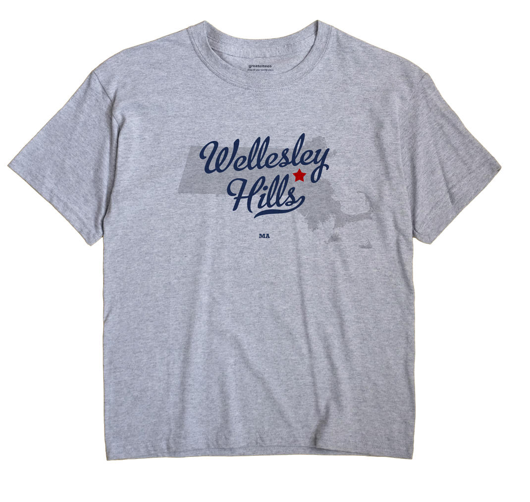 Wellesley Hills, Massachusetts MA Souvenir Shirt