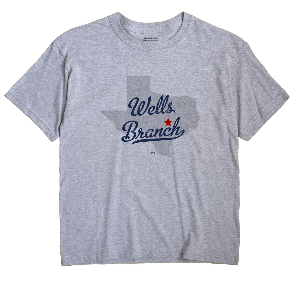 Wells Branch Texas TX T Shirt METRO WHITE Hometown Souvenir
