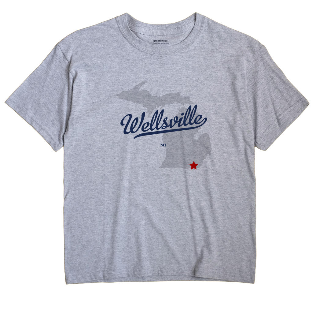 Wellsville, Michigan MI Souvenir Shirt