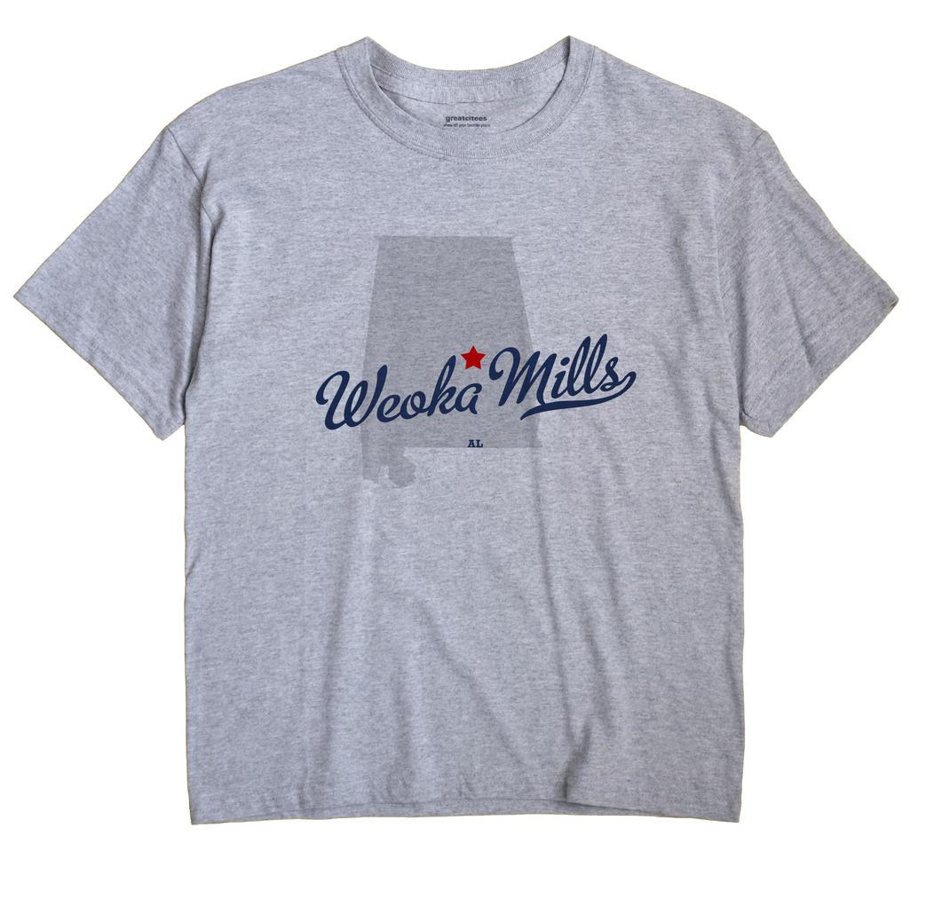 Weoka Mills, Alabama AL Souvenir Shirt