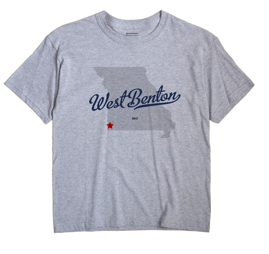 West Benton, Newton County, Missouri MO Souvenir Shirt