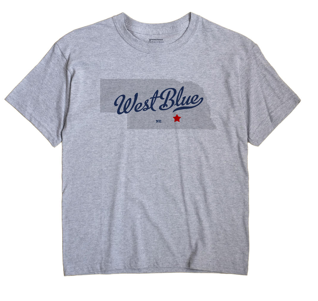 West Blue, Adams County, Nebraska NE Souvenir Shirt