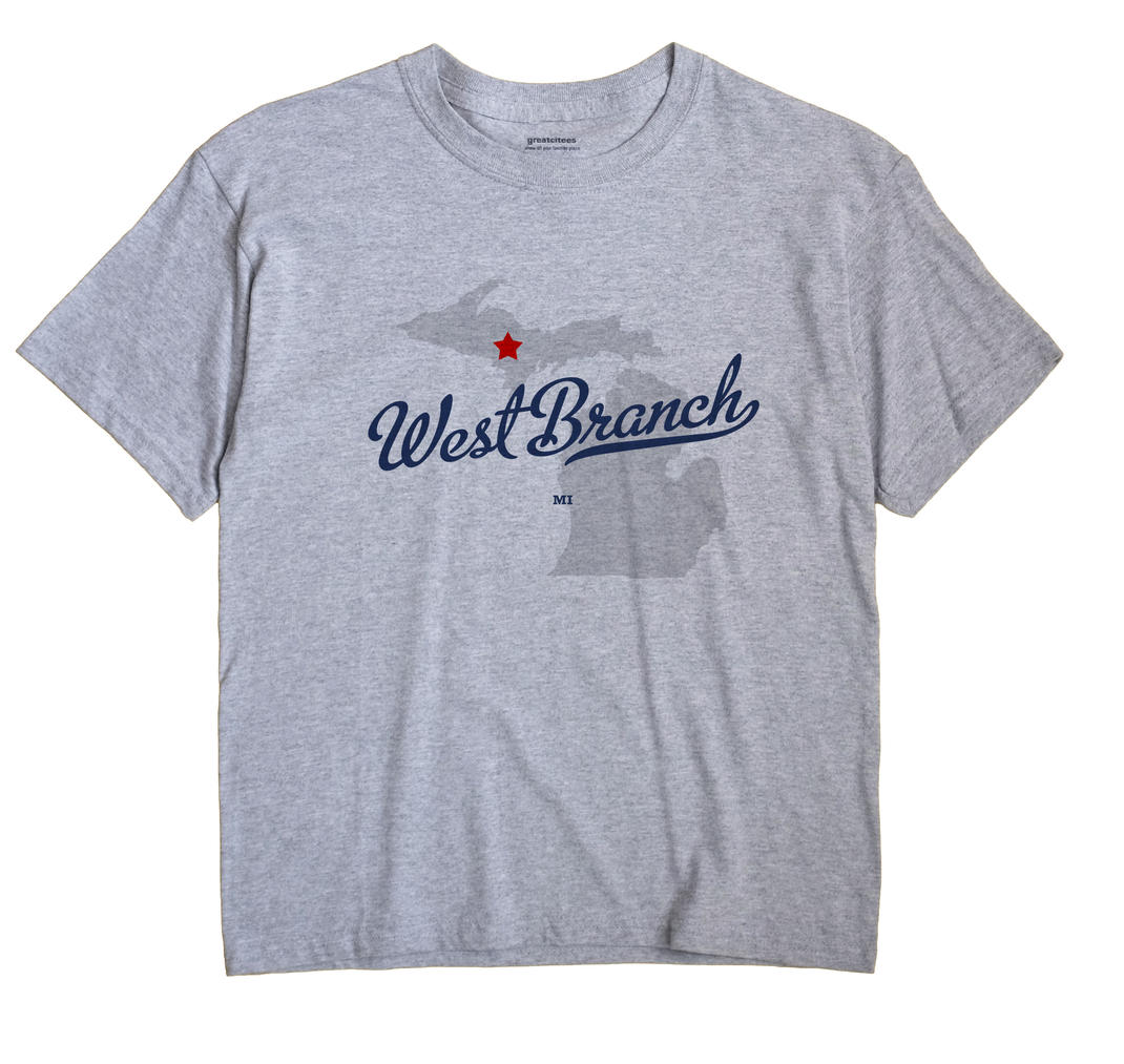 West Branch, Dickinson County, Michigan MI Souvenir Shirt