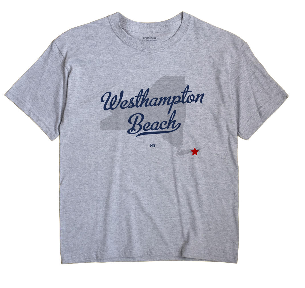Westhampton Beach New York NY T Shirt METRO WHITE Hometown Souvenir