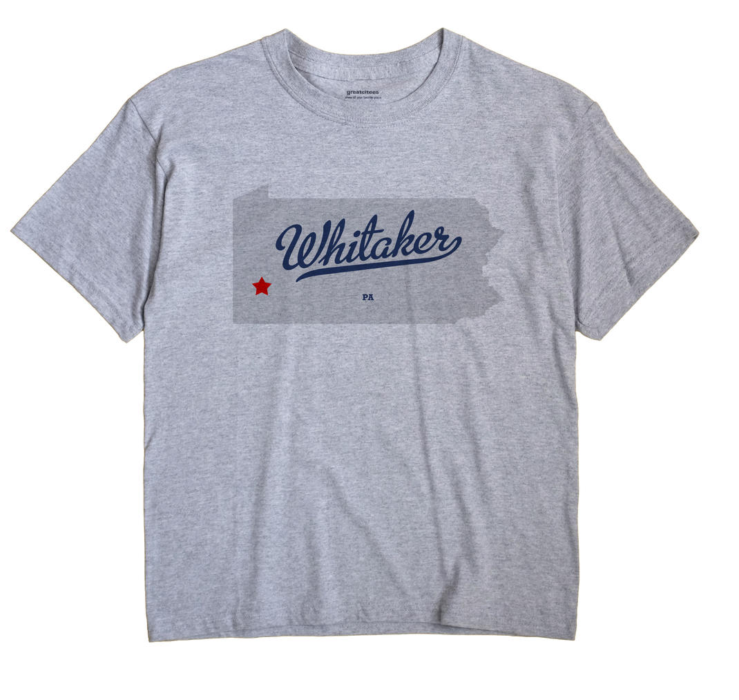 Whitaker Pennsylvania PA T Shirt METRO WHITE Hometown Souvenir