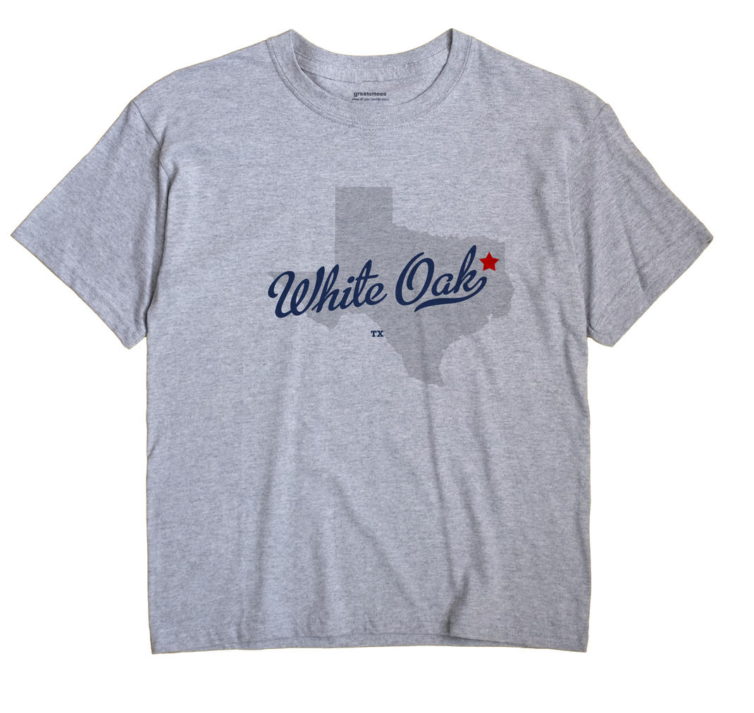 White Oak Texas TX T Shirt METRO WHITE Hometown Souvenir