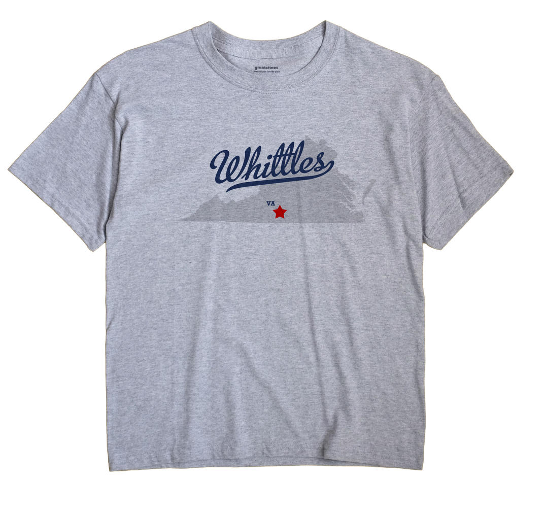 Whittles, Virginia VA Souvenir Shirt