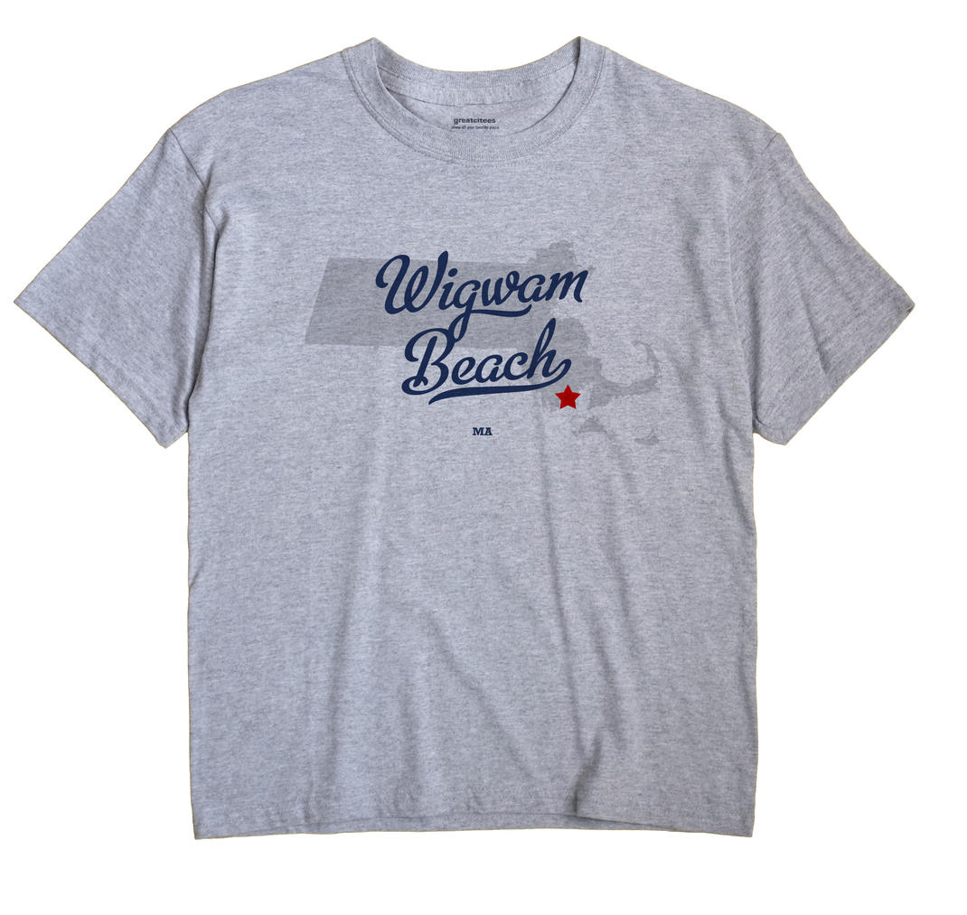 Wigwam Beach, Massachusetts MA Souvenir Shirt