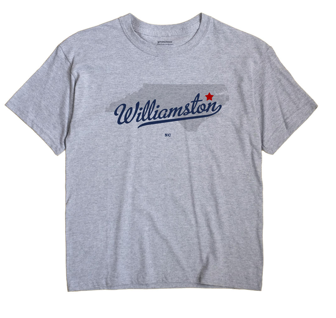 Williamston North Carolina NC T Shirt METRO WHITE Hometown Souvenir