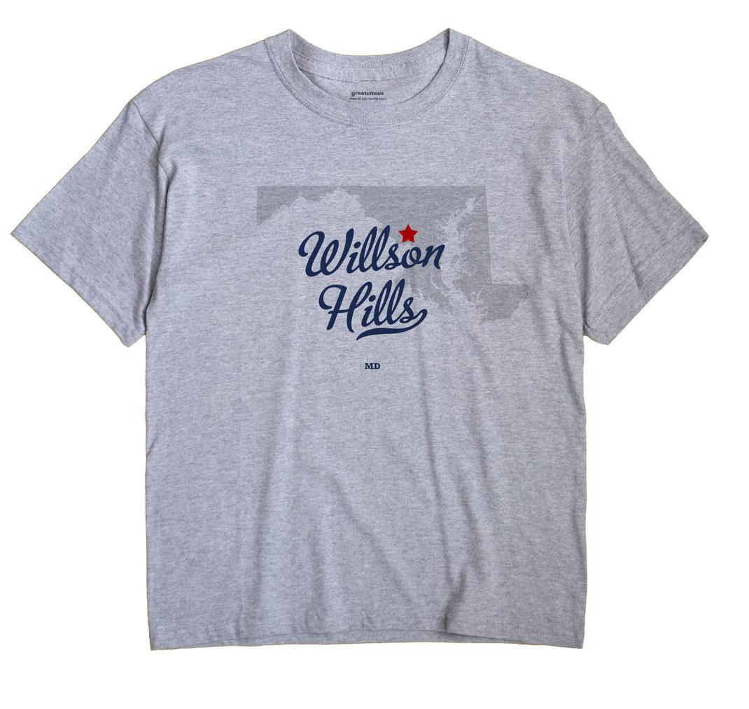 Willson Hills, Maryland MD Souvenir Shirt