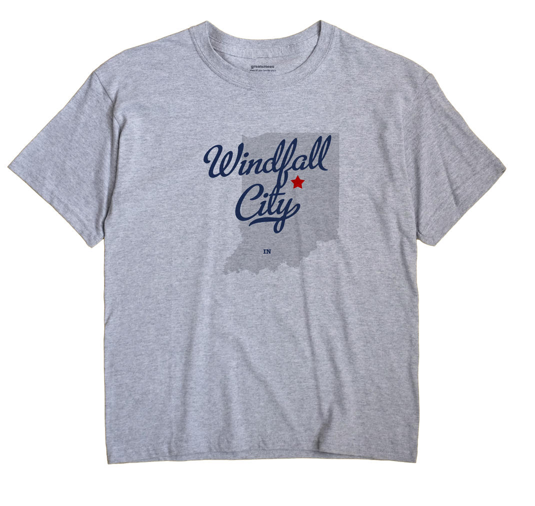 Windfall City, Indiana IN Souvenir Shirt