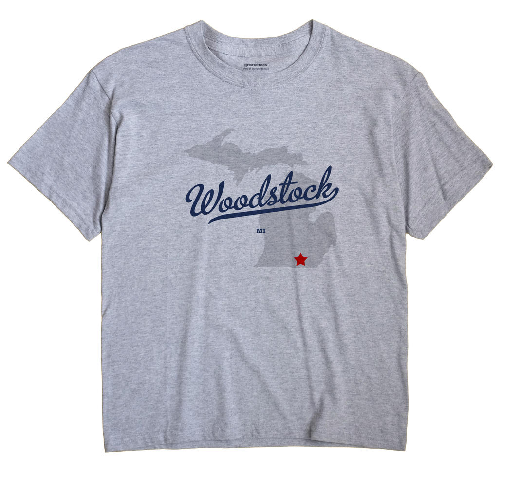 Woodstock, Michigan MI Souvenir Shirt