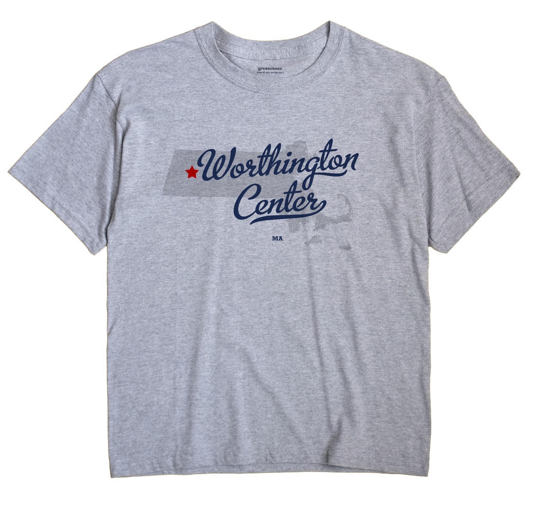 Worthington Center, Massachusetts MA Souvenir Shirt