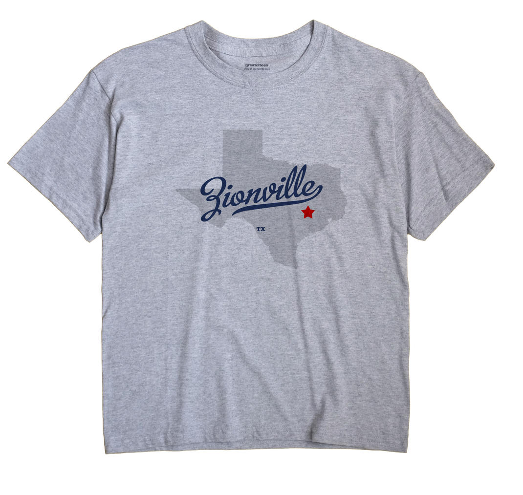 Zionville, Texas TX Souvenir Shirt