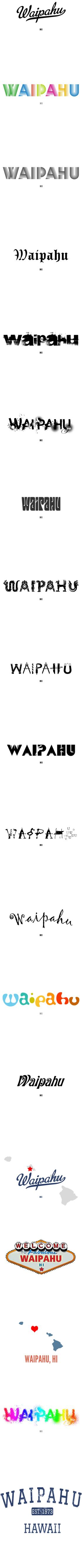 Waipahu Hi T Shirt Map Hometown Souvenir By Greatcitees Com